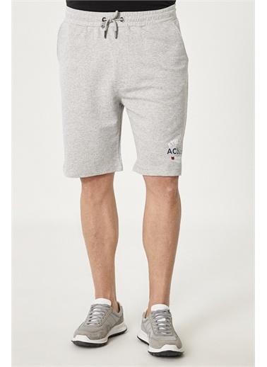 AC&Co / Altınyıldız Classics Slim Fit Günlük Rahat Spor Örme Şort 4A9521200007 Gri